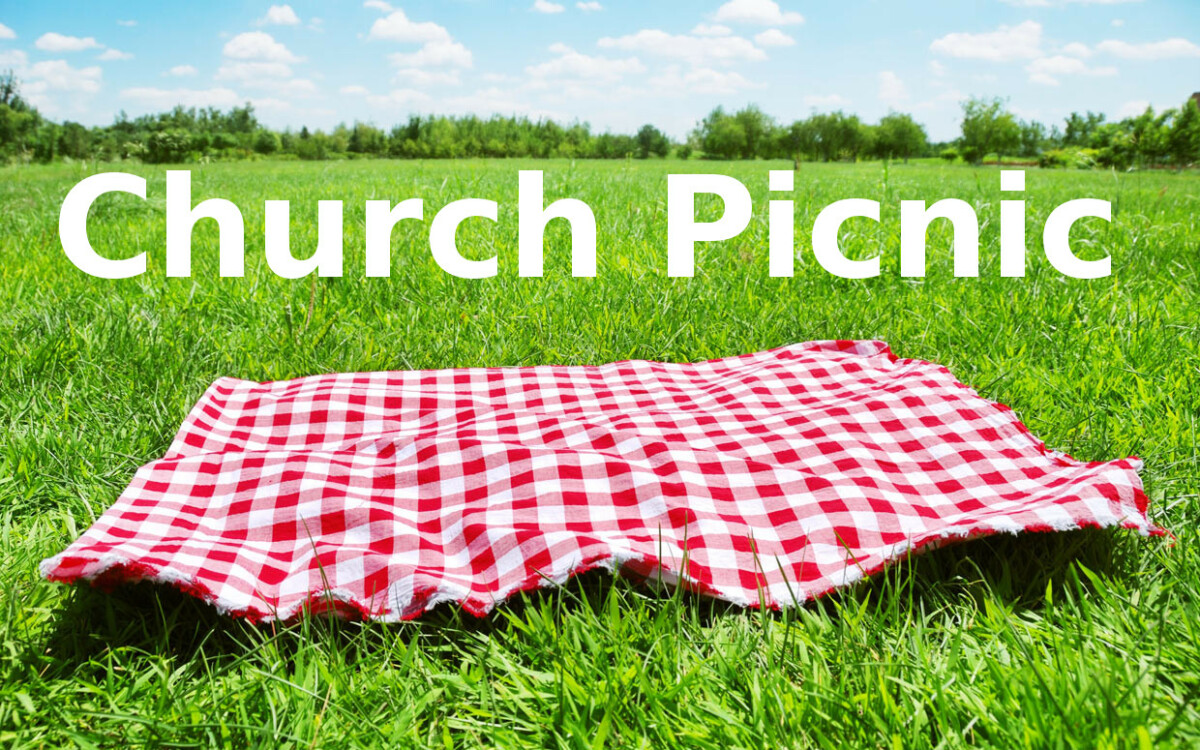 Church Family Picnic on the hill